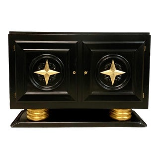1940s Vintage French Art Deco Sideboard / Buffet / Bar For Sale