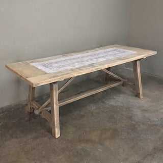 19th Century Spanish Table With Marble Tiles Preview