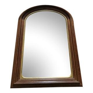 Vintage Arched Wood Mirror