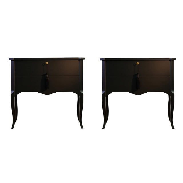 Gustavian Hauptbyrå with marble slab and redesigned with a contemporary lacquered matt black finish. Fine original...
