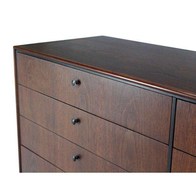 Mid-Century Danish Modern Walnut Long Dresser Credenza For Sale In New York - Image 6 of 10