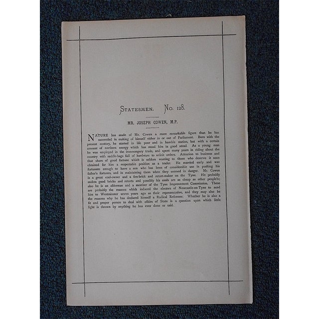 English Antique Vanity Fair Lithograph For Sale - Image 3 of 3