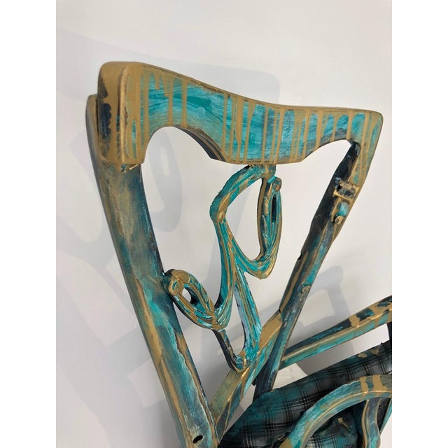 "Contemporary ""Gentleman"" Wall Sculpture by Artist Sharon Berebichez For Sale - Image 3 of 5"