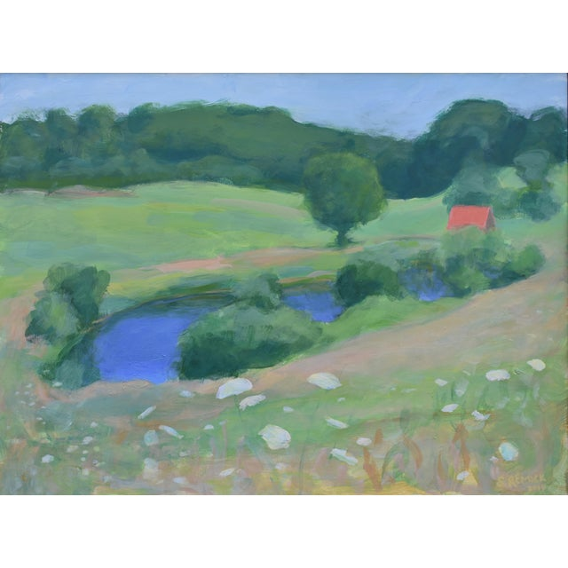 This is a group of three plein air paintings from the summer of 2019. Pastoral scenes from the town of Westport, MA; a...