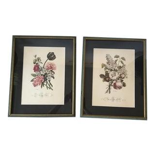 Framed Prevost Floral Prints - A Pair