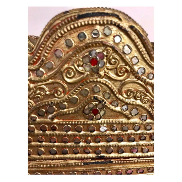 1950s Giltwood Jeweled Box For Sale - Image 10 of 12