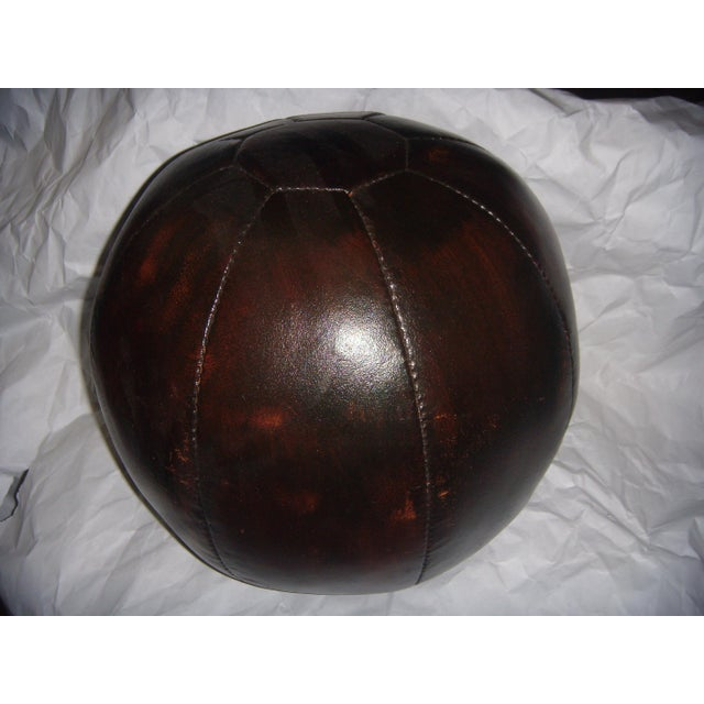 English 20 Lb. Leather Medicine Ball - Image 2 of 4
