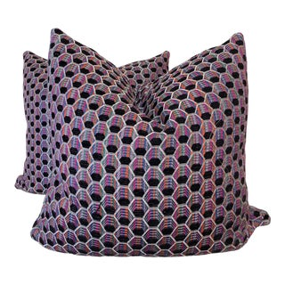 "Bright Woven Octagon 22"" Pillows-A Pair For Sale"