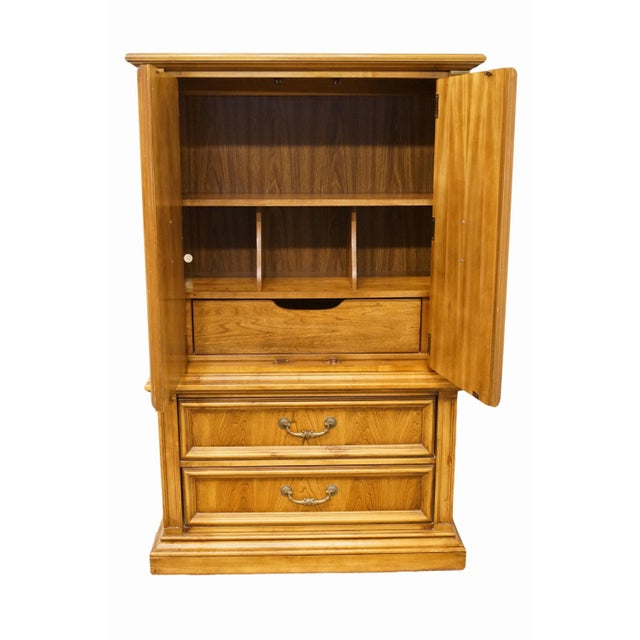 Late 20th Century 20th Century Italian Stanley Furniture Door Chest/Armoire For Sale - Image 5 of 13