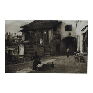 "1900 Vintage ""In Meran"" Print by s.s.s. For Sale"