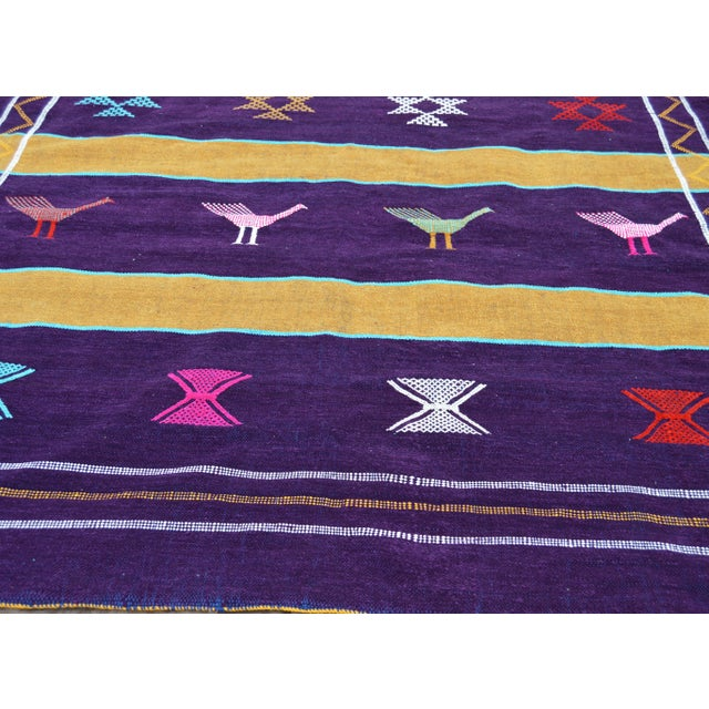 Late 20th Century Purple Moroccan Silk Rug- 8' x 4'5'' For Sale - Image 5 of 5