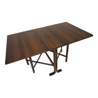 Siguro Ressell Rosewood Gate Leg Dining Table For Sale