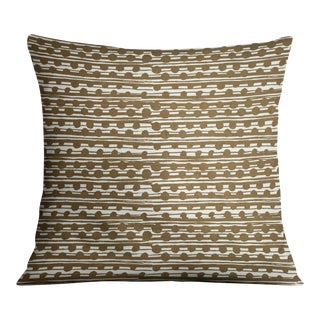 Gamal Ochre On Ecru Pillow For Sale