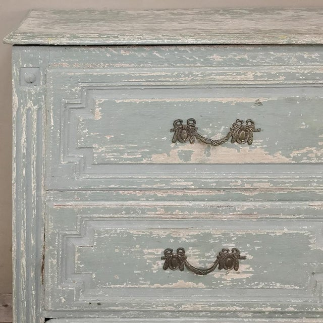 18th Century Country French Painted Commode For Sale - Image 9 of 13