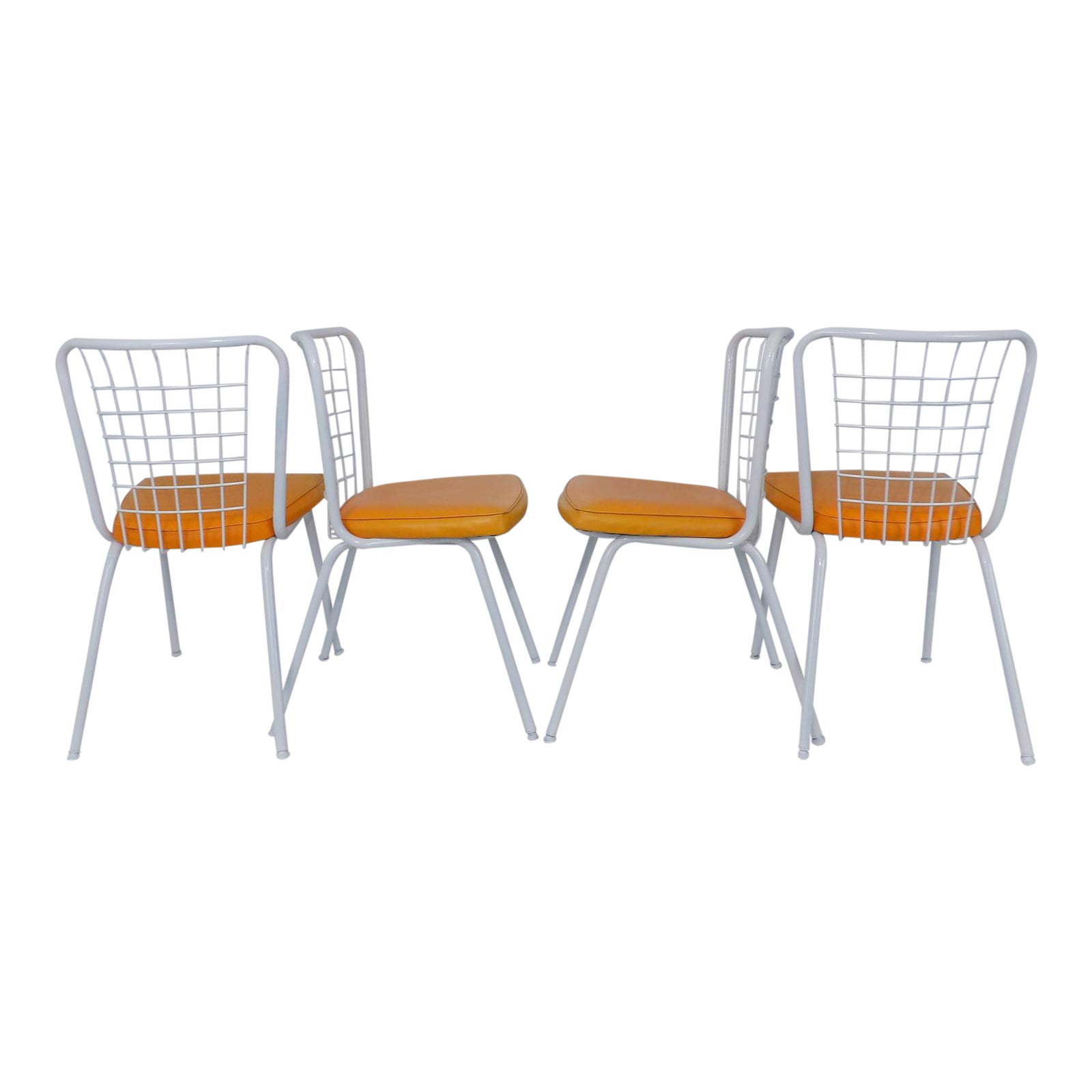 Howell mid century modern metal wire back dining chairs set of 4 chairish