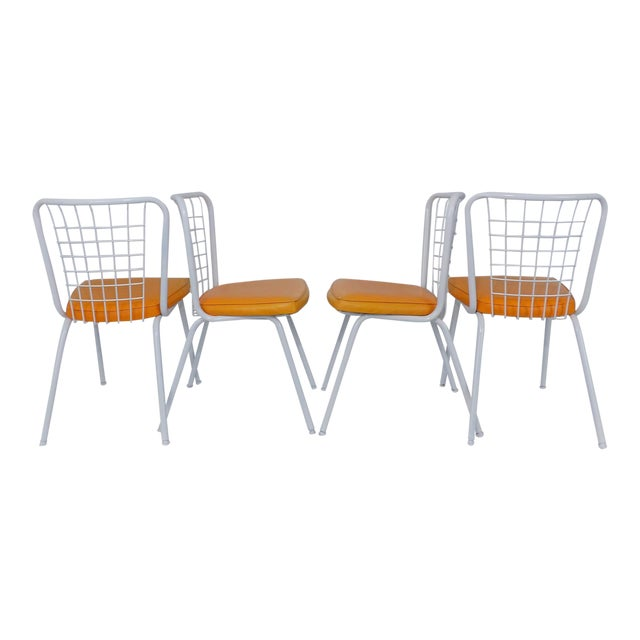 Howell Mid Century Modern Metal Wire Back Dining Chairs Set Of 4 Image