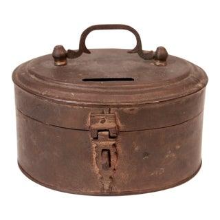 Vintage Oval Brass Box For Sale