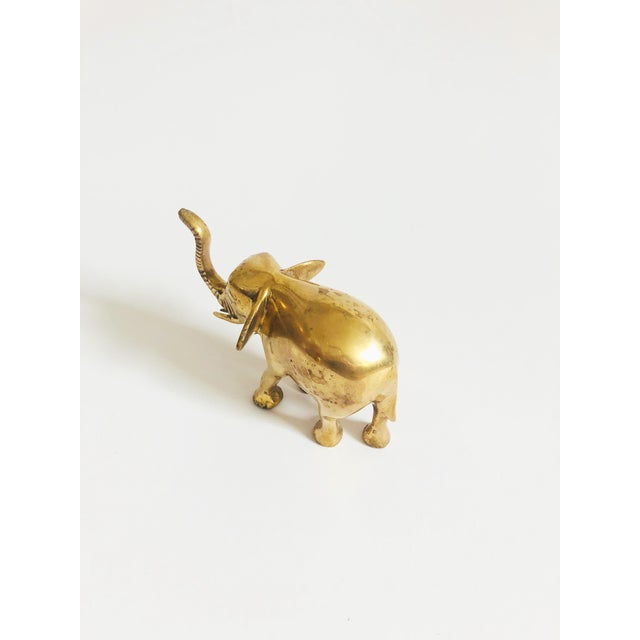 Vintage Brass Elephant For Sale - Image 4 of 7