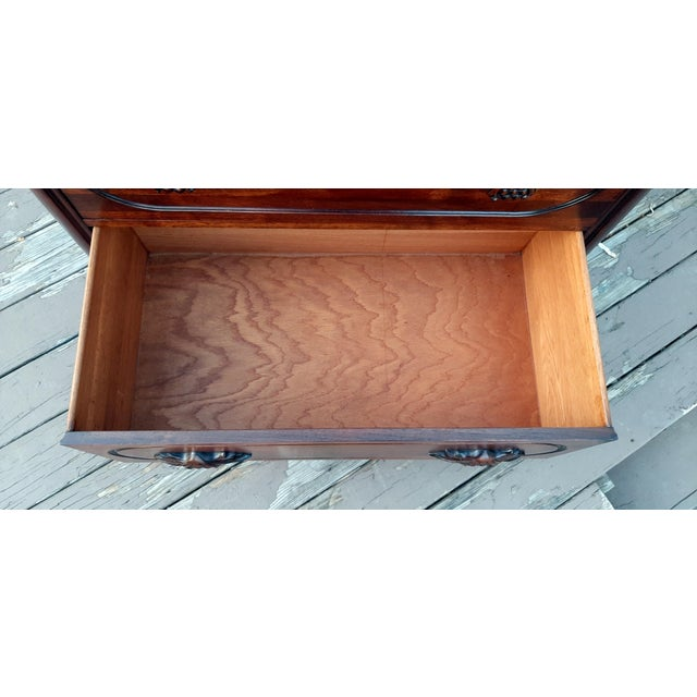 1948 Davis Cabinet Company Lillian Russell Black Walnut Chest of Drawers For Sale - Image 10 of 13