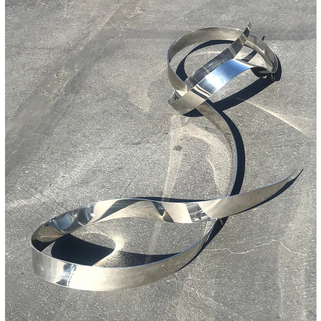 Mid-Century Kinetic Chrome Wall Hanging Sculpture by L. Kelly Gronley For Sale - Image 4 of 11