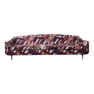 1960s Vintage Flexsteel Maharam Upholstered Sofa For Sale