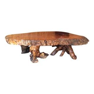 Vintage Living Edge Slab Coffee Table