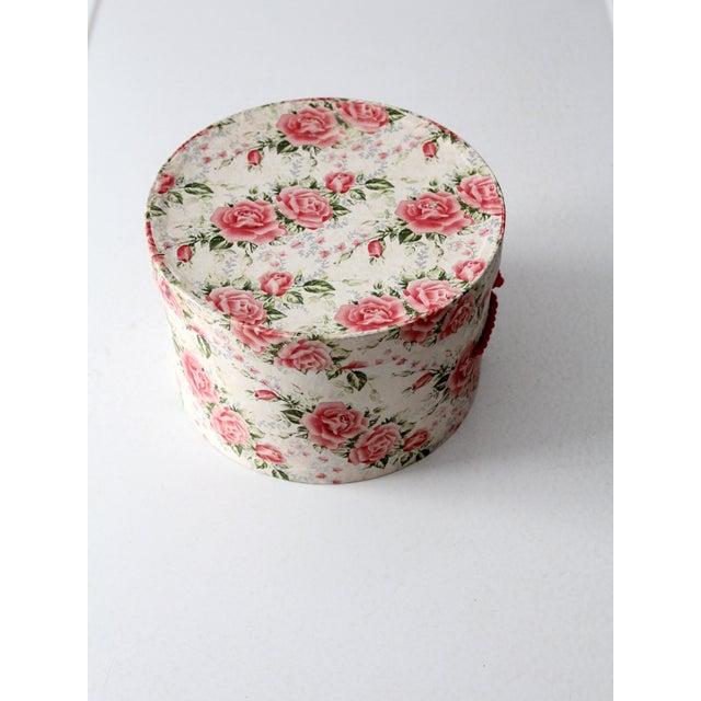 Vintage Floral Hat Box - Image 5 of 8