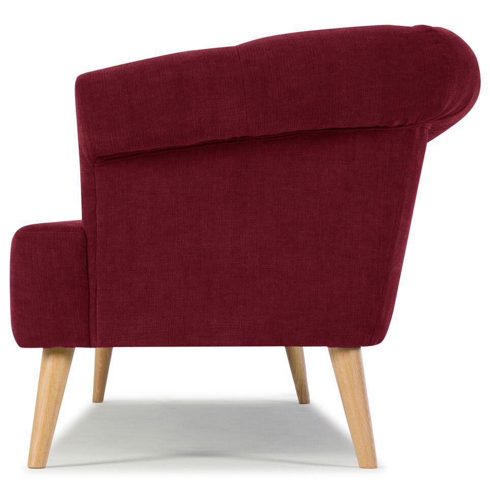 Sarreid LTD Burgundy Red Tufted Sofa   Image 3 Of 3
