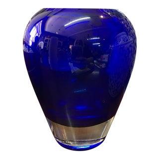 Cobalt Blue Crystal Vase