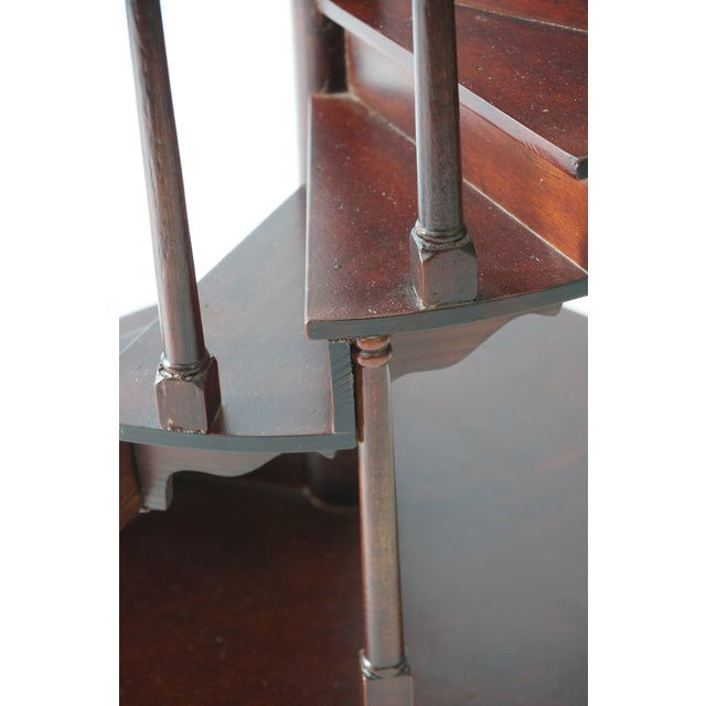 Wood Vintage Spiral Staircase Architectural Model in Mahogany For Sale - Image 7 of 9
