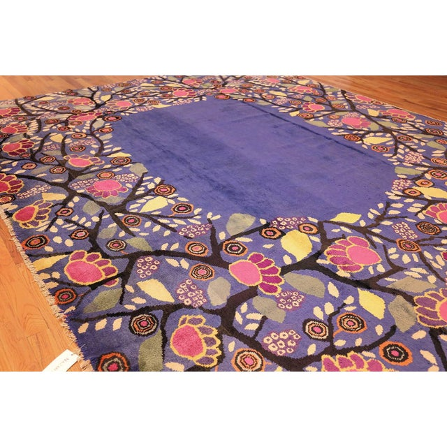 Art Nouveau Edouard Benedictus French Deco Rug - 10′10″ × 13′2″ For Sale - Image 3 of 8