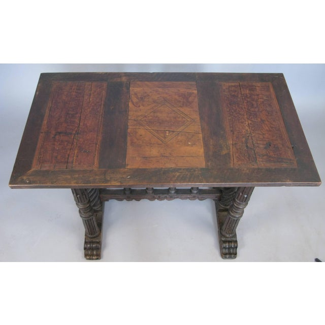 Gothic Early 18th Century Italian Library Table For Sale - Image 3 of 9