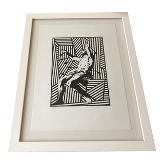 Saint Sebastian Woodcut Print For Sale