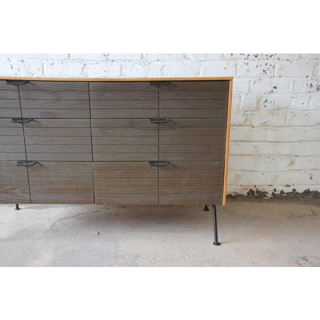 Mid 20th Century Raymond Loewy for Mengel Mid-Century Modern Six-Drawer Dresser For Sale - Image 5 of 11