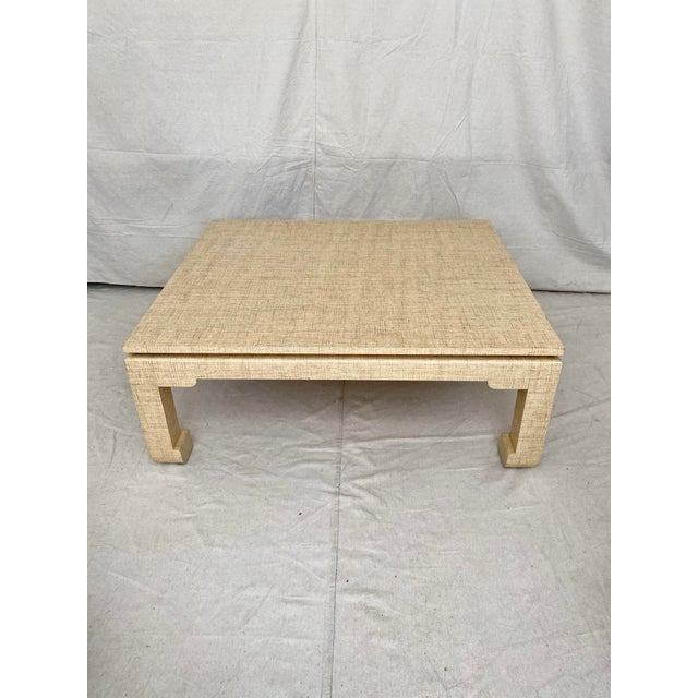 Grasscloth Wrapped Ming Style Coffee Table For Sale - Image 11 of 11