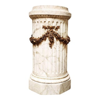 French Louis XVI Style Carved Wood Pedestal For Sale