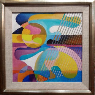 Dick Hersey - Mid Century Geometric Abstract - Oil Painting Preview