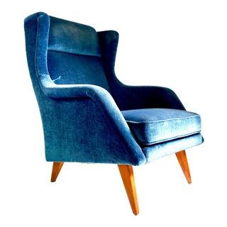 Mid Century Scandinavian Lounge Chair For Sale