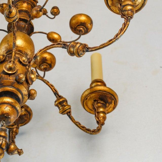 Stunning Giltwood Italian Chandelier For Sale In Houston - Image 6 of 11