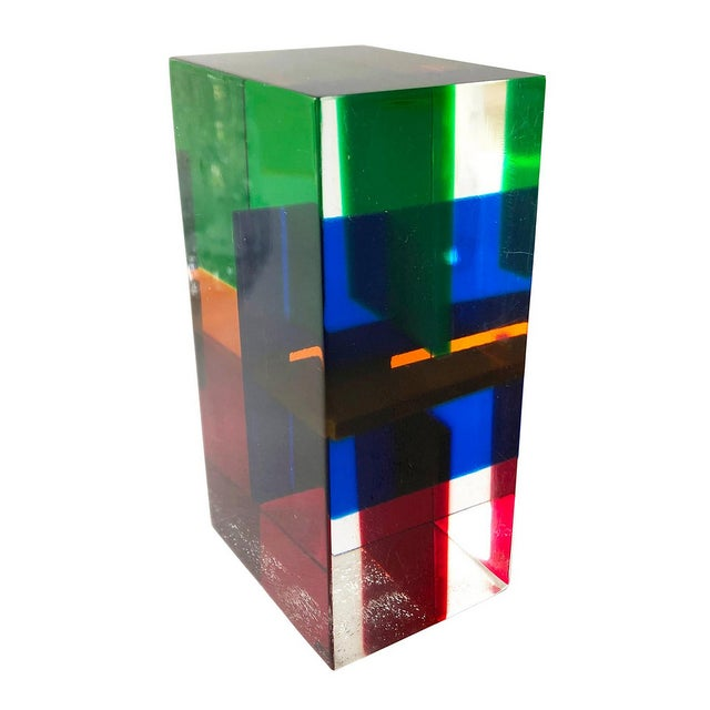 Acrylic 1970s Merle Edelman Acrylic Layered Sculpture For Sale - Image 7 of 7