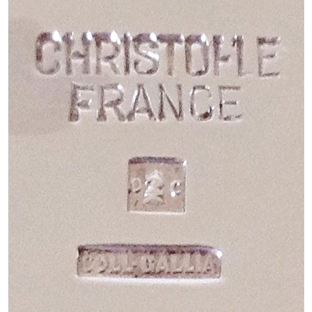 Maison Christofle Maison Christofle Glass & Silver Flower Frog For Sale - Image 4 of 4