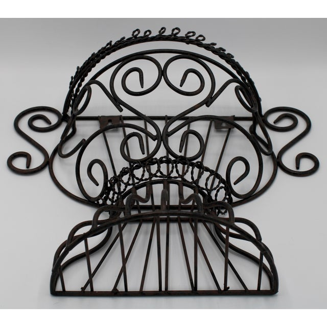 Metal French Garden Wall Jardiniere For Sale - Image 7 of 12