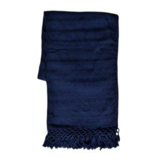 Guatemalan Indigo Silk Throw For Sale