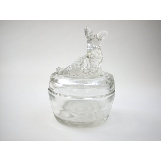 Lidded Glass Bowl with Dog - Image 6 of 10