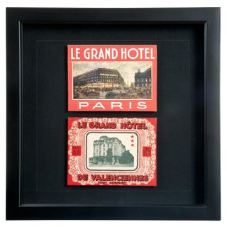 Framed French Grand Hotel Luggage Labels