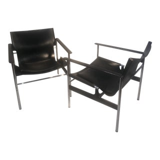 Charles Pollock for Knoll Model 657 Sling Chairs, C.1977 - a Pair For Sale