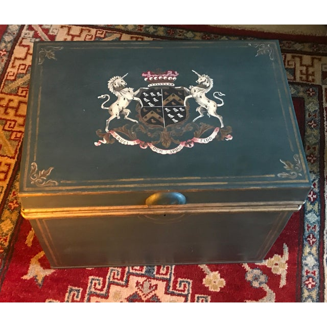 Large English Metal Strong Box - Image 2 of 11