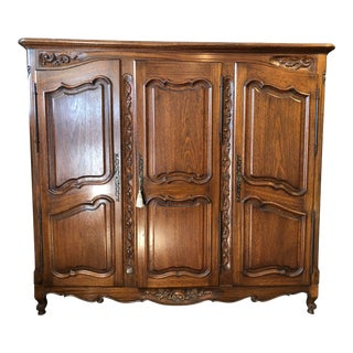 Media Retrofitted French Armoire For Sale