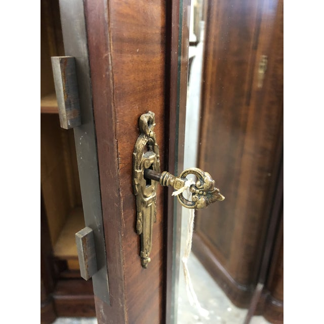 19th Century French Neoclassical Mirrored Armoire For Sale - Image 12 of 13