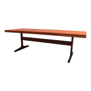 Vintage Danish Mid Century Modern Large Teak Coffee Table For Sale